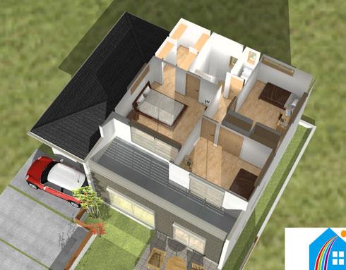 注文住宅ご提案プラン例5 内観イメージパース2