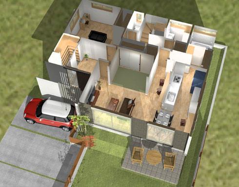 注文住宅ご提案プラン例5 内観イメージパース1