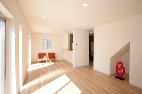 岐阜イタヤホームの注文住宅施工事例写真1。ナチュラルテイストなリビング